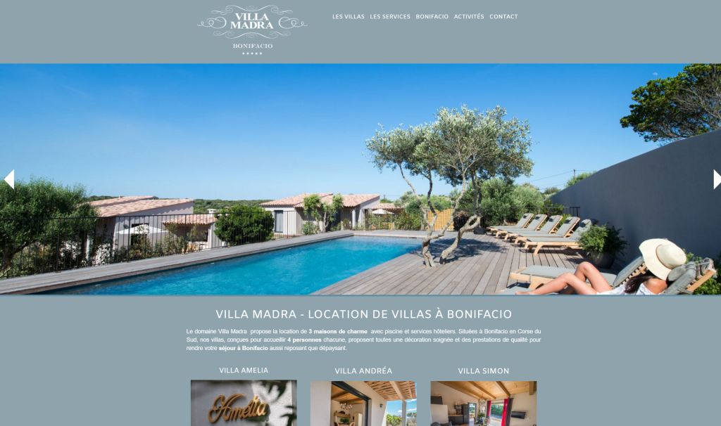 Villa Madra, nouveau site web
